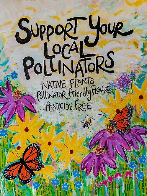 Pollinator Yard Art