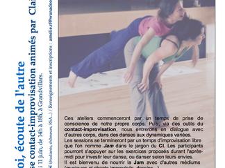 Stage de contact-improvisation proche de Belfort le 11 juin