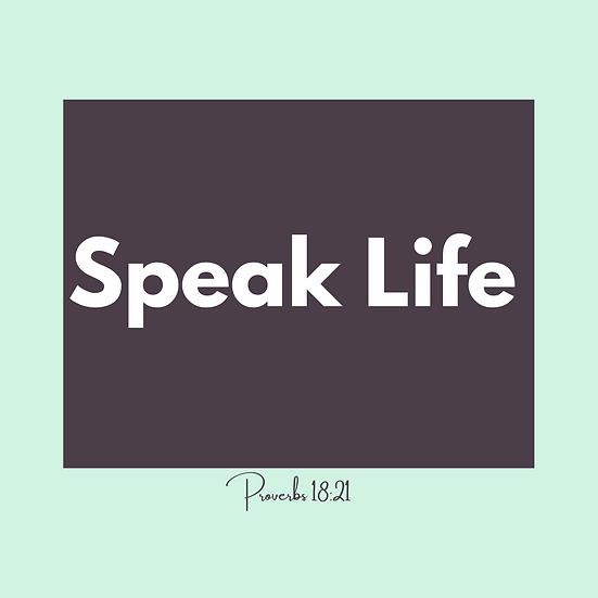 "Encouragement Postcards (16) ""Speak Life"""""