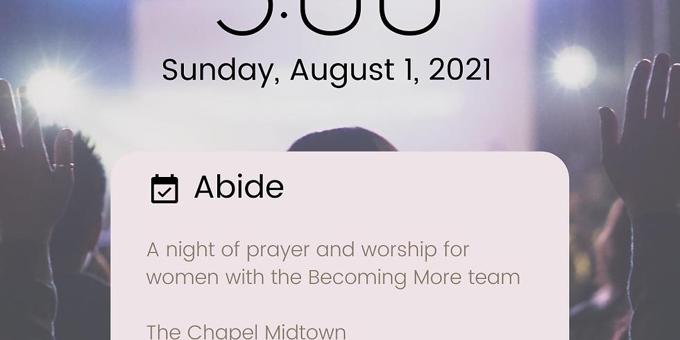 Abide Prayer and Worship Night