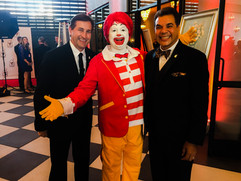 David Chandley, Ronald McDonald and me .