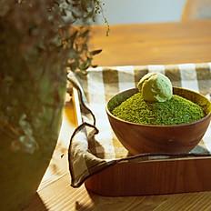 Bingsu au thé vert