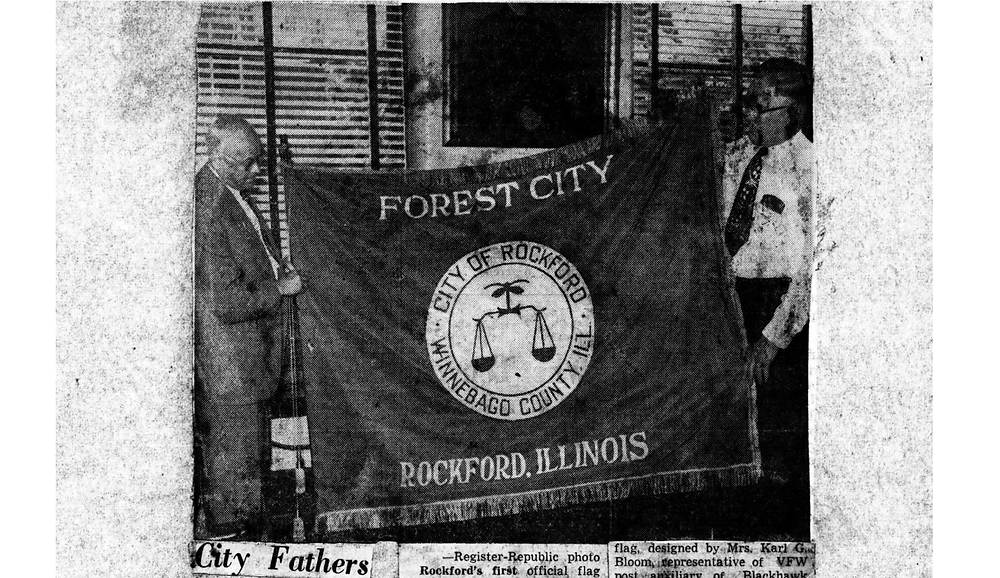 Approved City Flag, Rockford Public Library
