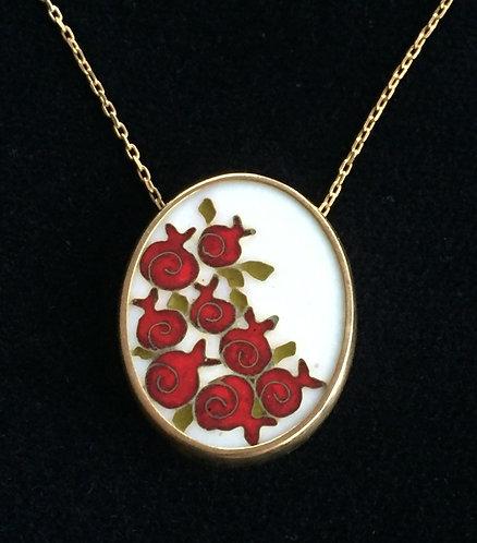 "Pendant ""Pomegranates"" with chain"