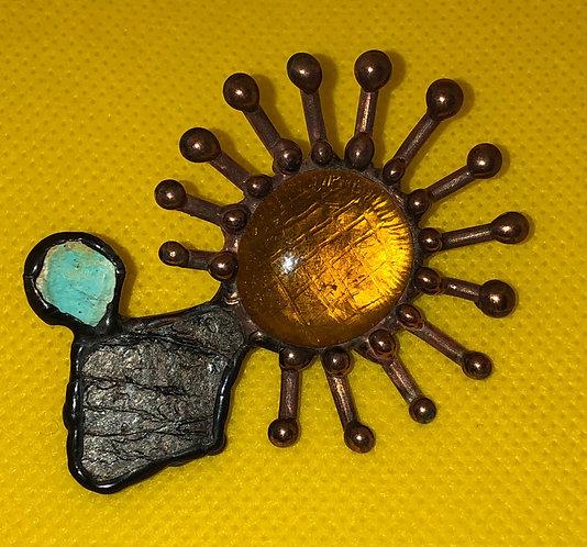 """Broach """"Sunflower"""""""