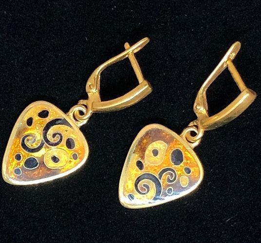 """Earrings """"Gustav Klimt"""""""