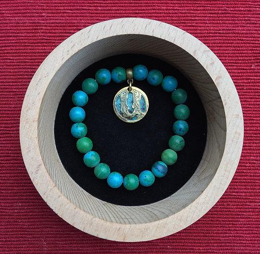 """Bracelet with pendant letter """"A"""""""