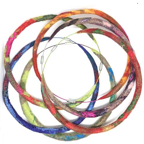 Colorful Felt Necklaces