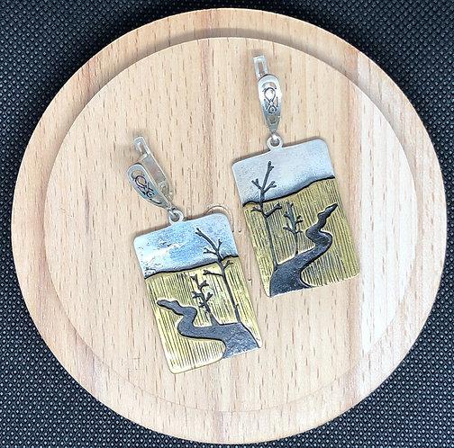 """Earrings """"Landscape"""""""