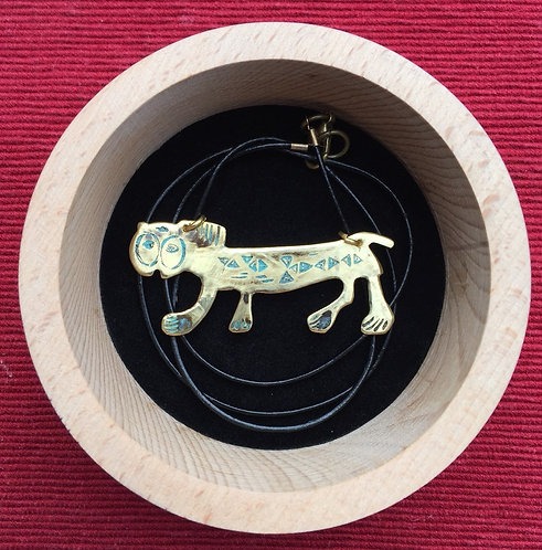 "Pendant ""Lion"" with leather cord"