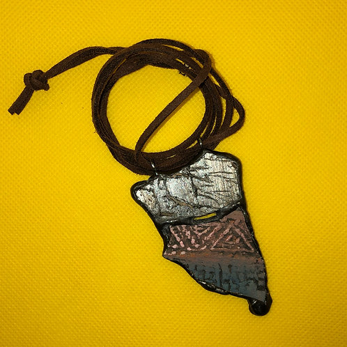 Necklace (volcanic glass and ceramic)