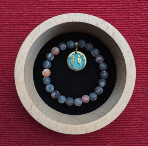 """Bracelet with pendant letter """"M"""""""
