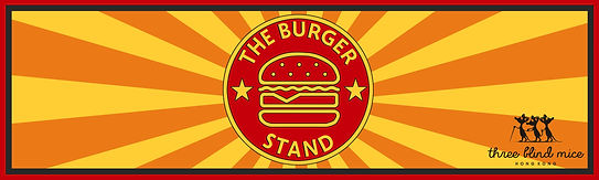 Bottom banner 90cm x 300cm - the burger