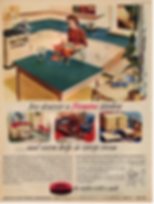 A 1950s advertisement for a Formica kitc