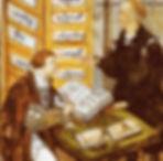 Jakob Fugger supervising his accounts, a