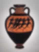 Terracotta Panathenaic prize amphora, by