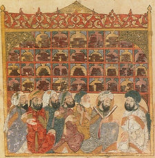 Scholars_at_an_Abbasid_library._Maqamat_