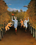 The Footbal Players, by Henri Rousseau,
