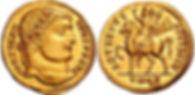 CONSTANTINE I. 307-337 AD. AV Solidus (4