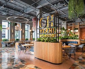 oh yeah! brewing restaurant interior des