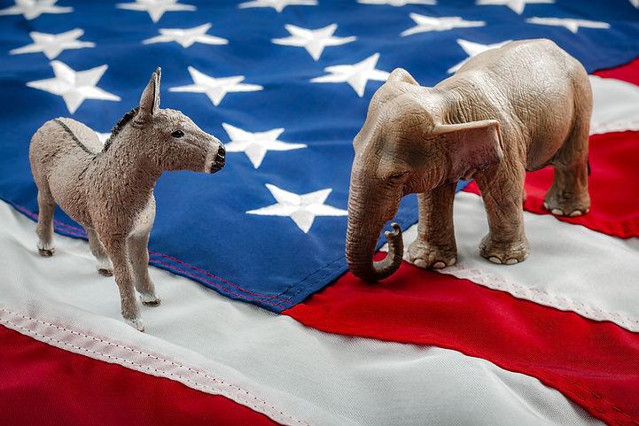 Democrats vs republicans are facing off