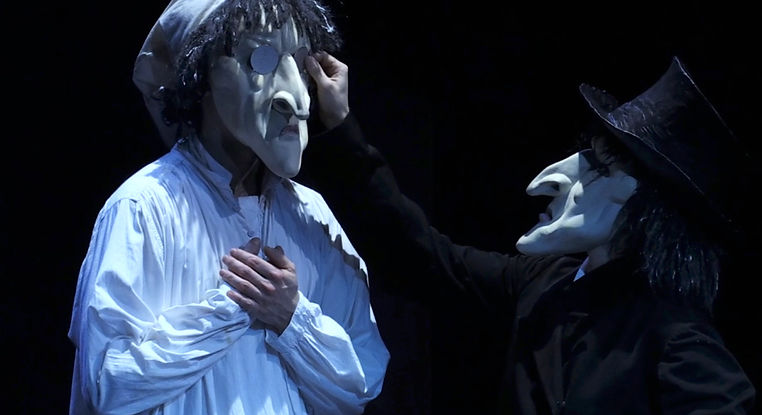 PerpetuoMobileTeatro, Scrooge, Canto di natale, Charles Dickens, maschere, teatro, Physical Theatre