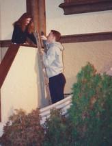 mel and cal on ladder.jpg