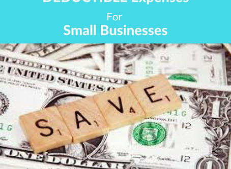 Deductible Expenses For Small Businesses