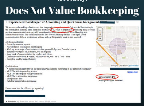 Why Your Business (Probably) Does Not Value Bookkeeping