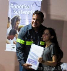 Encontro com alunos e com a equipe da SODECIA e representante do CMDCA que são parceiros do Projeto Robótica em 2019.