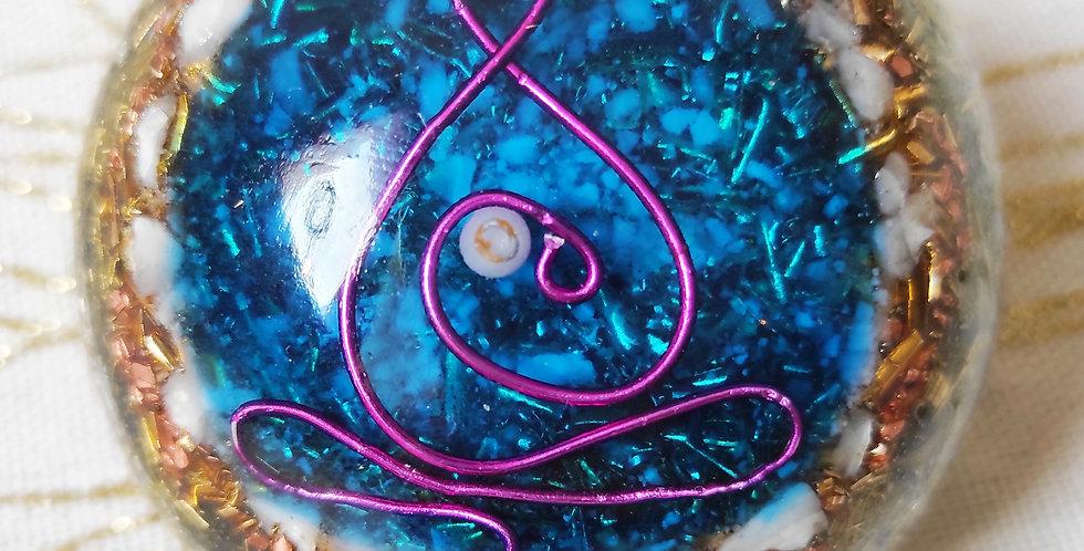 1/2 sphère Orgonite Bouddha