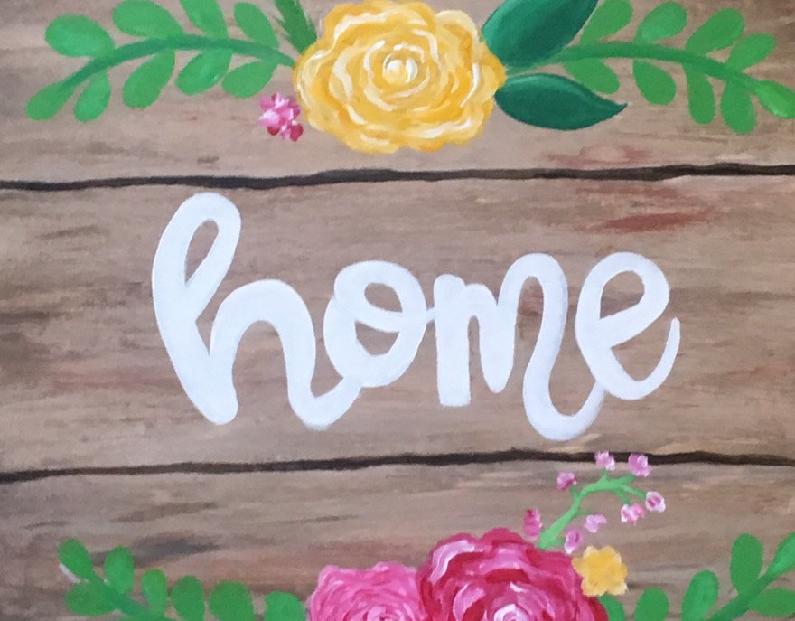 DIY Home canvas & tutorial