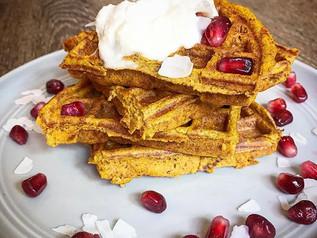 Pumpkin Protein Waffles