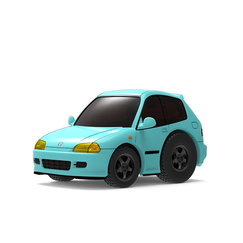 TINY Q Pro-Series 01 - Civic EG6 (Teal)