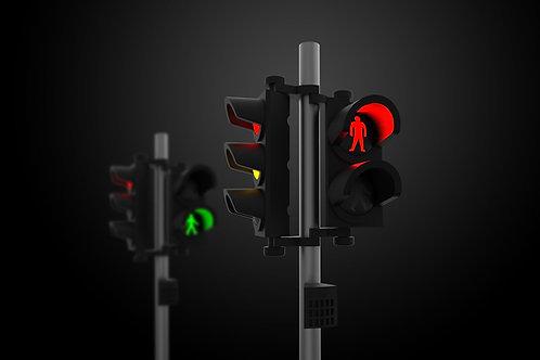 1/64 Traffic Light Set