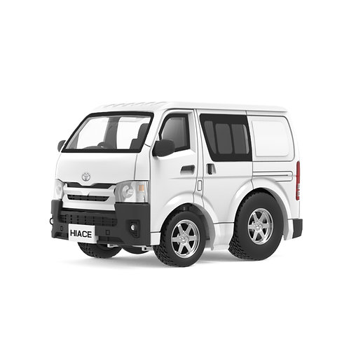 Tiny Q Pro-Series 03 - Toyota Hiace (White)