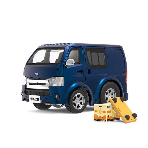 Tiny Q Pro-Series 03 - Toyota Hiace (Metallic Blue with parts)