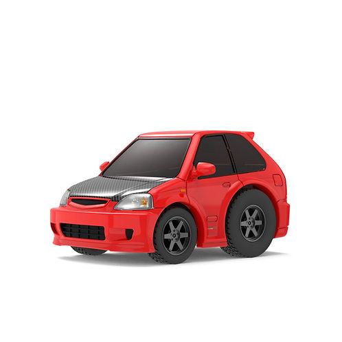 TINY Q Pro-Series S02 - Civic EK9 (Red/Carbon-Fiber)