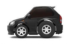 TinyQ-02a Honda Civic EK9 (Black)
