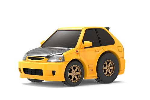 TINY Q Pro-Series 02 - Civic EK9 (Yellow with Carbon Bonnet)