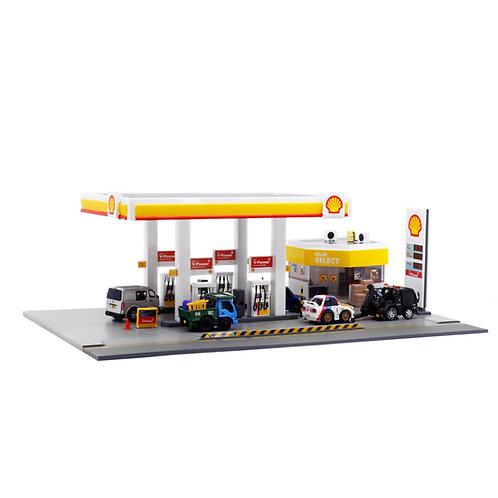 BQ-08 Shell Petrol Station Diorama