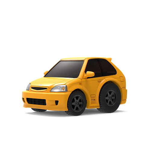 TINY Q Pro-Series 02 - Civic EK9 (Yellow)