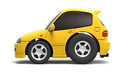 TinyQ-01a Honda Civic EG6 (Yellow)