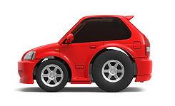 TinyQ-02b Honda Civic EK9 (Red)