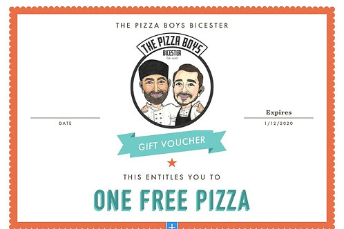 ONE PIZZA GIFT VOUCHER