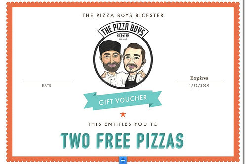 TWO PIZZA GIFT VOUCHER