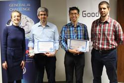 Andrés and Andreas receiving awards