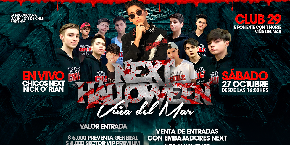 Fiesta Next Halloween VIÑA DEL MAR
