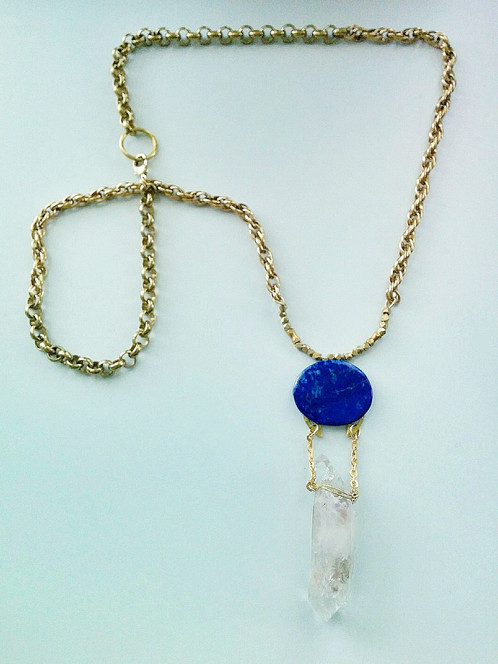 lapis pendant archipelago gold necklace lazuli yellow