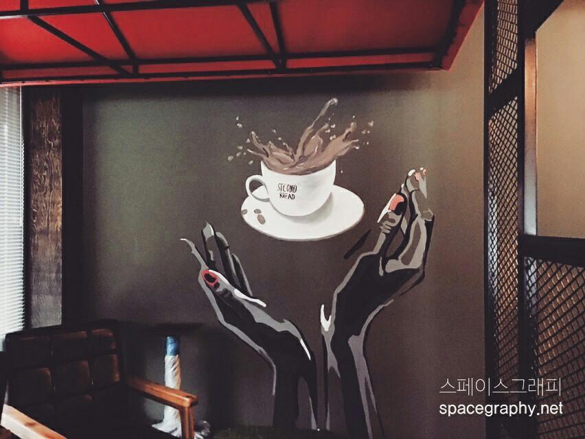 카페벽화_카페인테리어_실내벽화_실내인테리어_일러스트벽화_실내벽화_커피일러스트_5